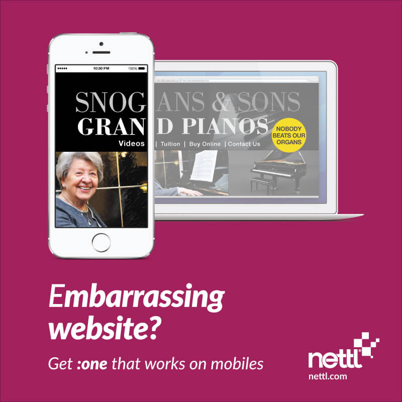 Snog Gran Videos, embarrassing website fail from nettl.com