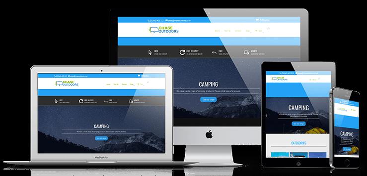 web design birmingham chase e-commerce site