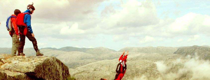 online ecommerce trust jumping skydive metaphor