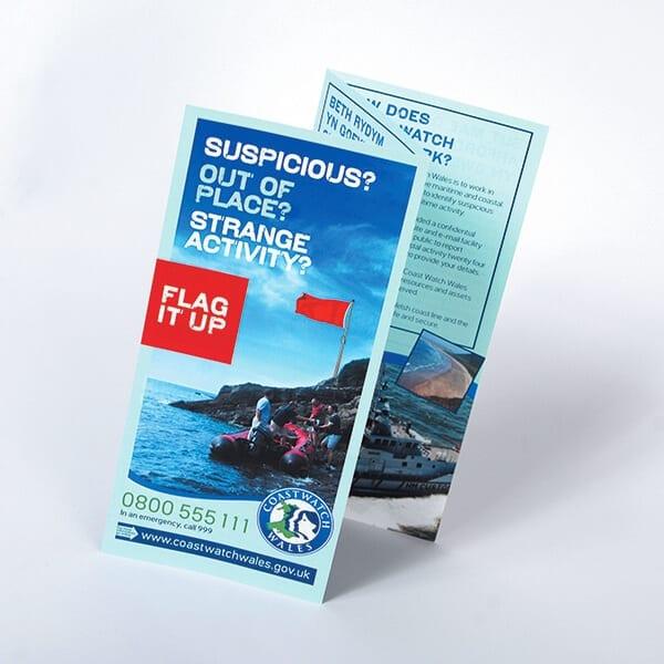 folded leaflets business marketing