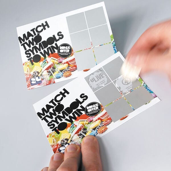 customised printed scratch cards