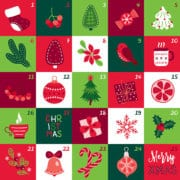 advent calendar graphic illustration