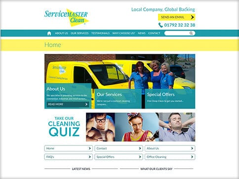 Servicemaster Swansea Website Design