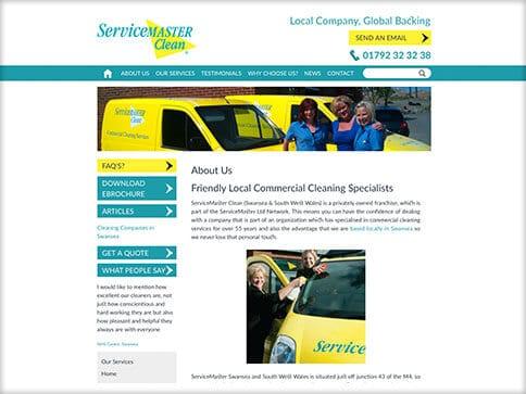 Servicemaster Swansea Web Design