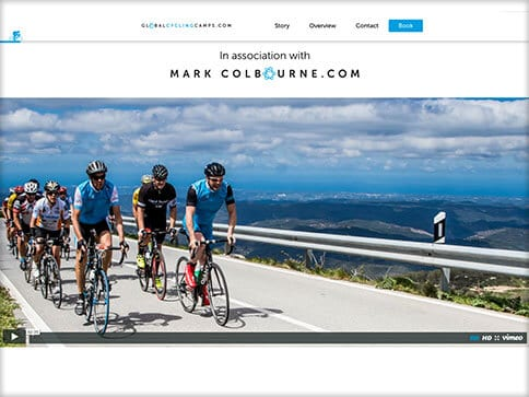 global cycling camps booking website 1 with video