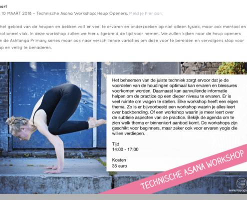 webdesign Lila Yoga Haarlem