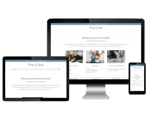 Website ontwerp voor Prayayoga Haarlem