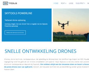 Webdesign voor skytools drone verhuur en lease