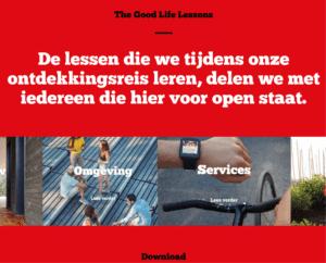 Website van Nettl Den Haag over The Good Life met Dura Vermeer