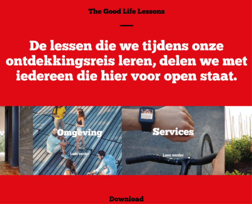 Website van Nettl Den Haag over The Good Life met Dura Vermeer