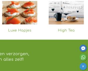 Website met online verkoop voor Veridius Catering Rijswijk