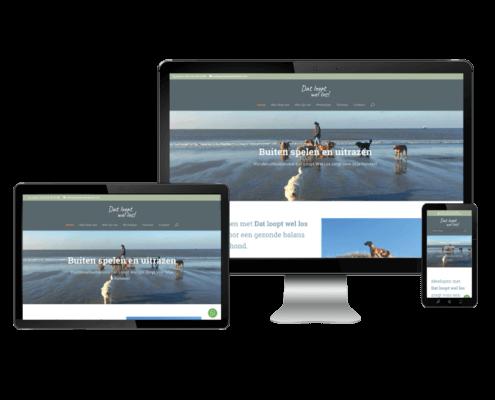website met whatsapp hondenuitlaatservice
