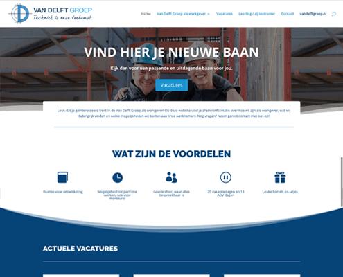 Homepage werkenbijvandelft door Nettl Waalwijk