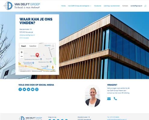 Contactpagina werkenbijvandelft door Nettl Waalwijk
