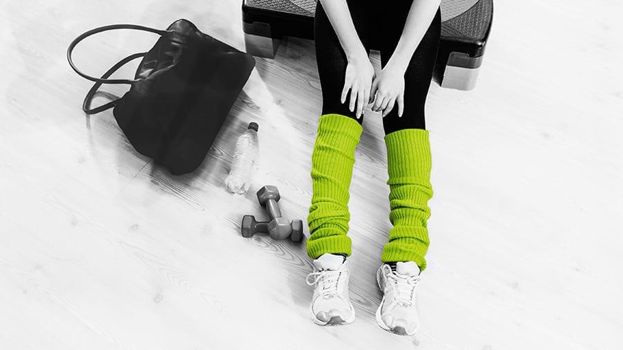 leg warmer green 900 1