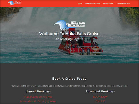 Huka Falls Website