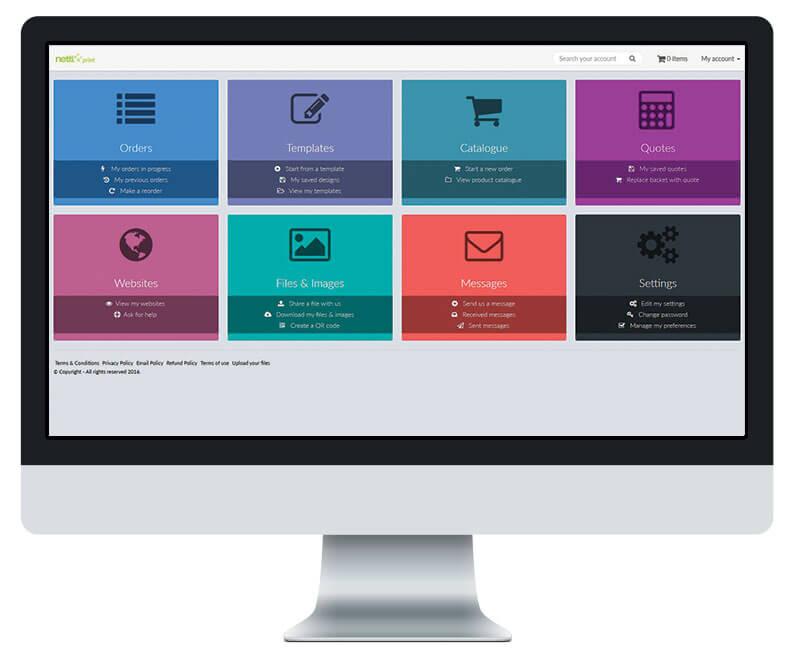 Orderlink website dashboard