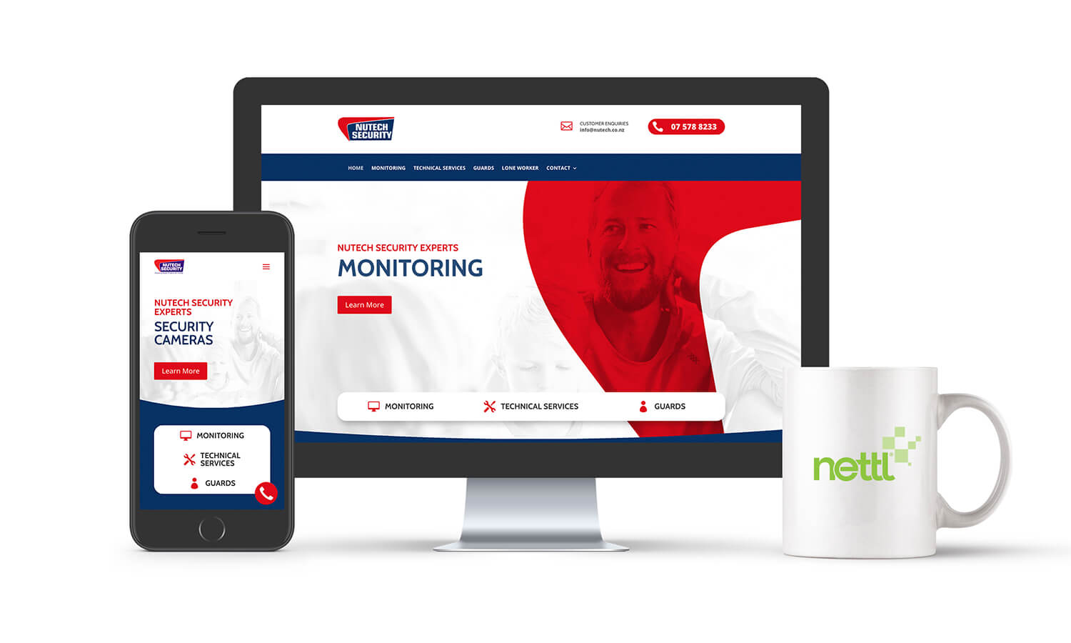 Nutech Security Responsive Website