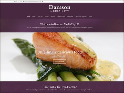 damson media city website design preview