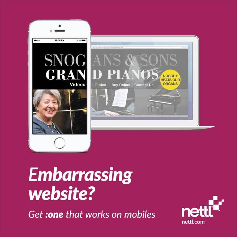 Snog Gran Videos, embarrassing website fail from nettl.com