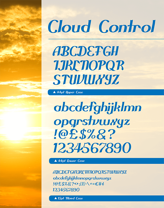 Cloud Control free print and web font