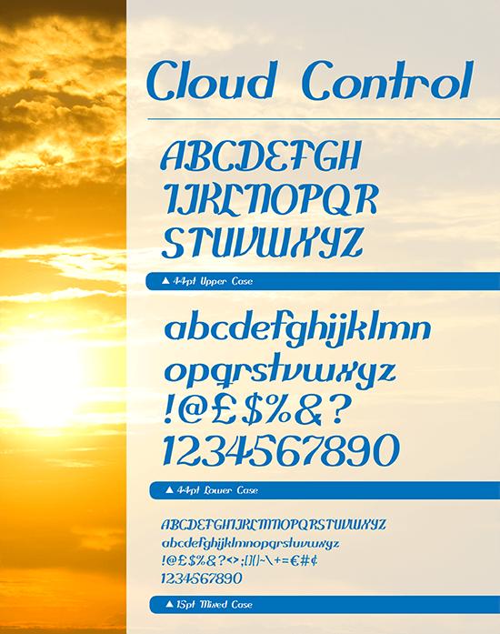 Cloud Control free print and web font