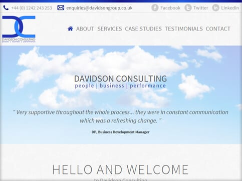 Davidson-Consulting-Homepage