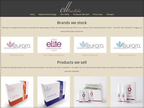 Ell Hair Studio Brands & Products