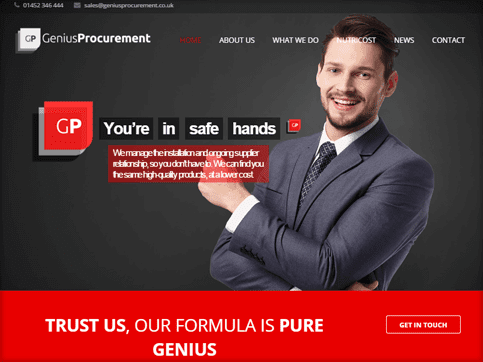 Genius-Procurement-Homepage