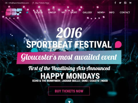 Sportbeat-Homepage