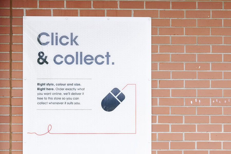 click and collect poster