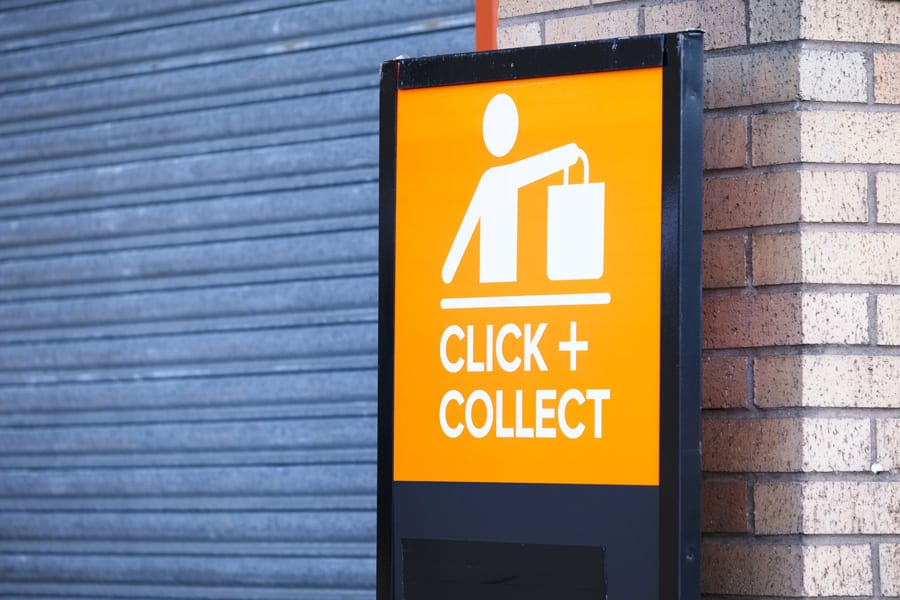 collection point signage