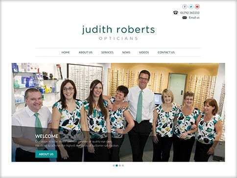 Judith Roberts Opticians Mumbles Swansea Web Design