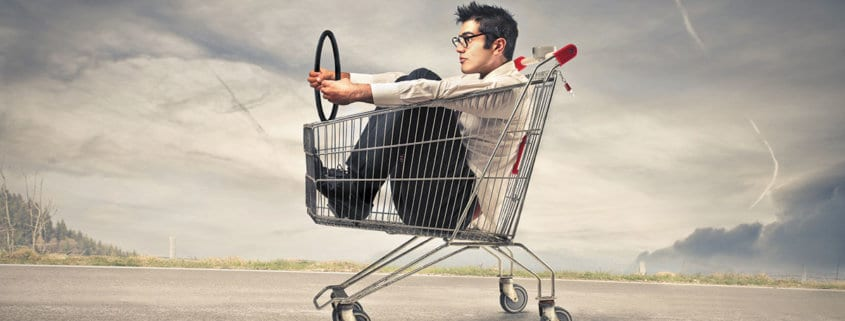 ecommerce website selling online header image shopping basket