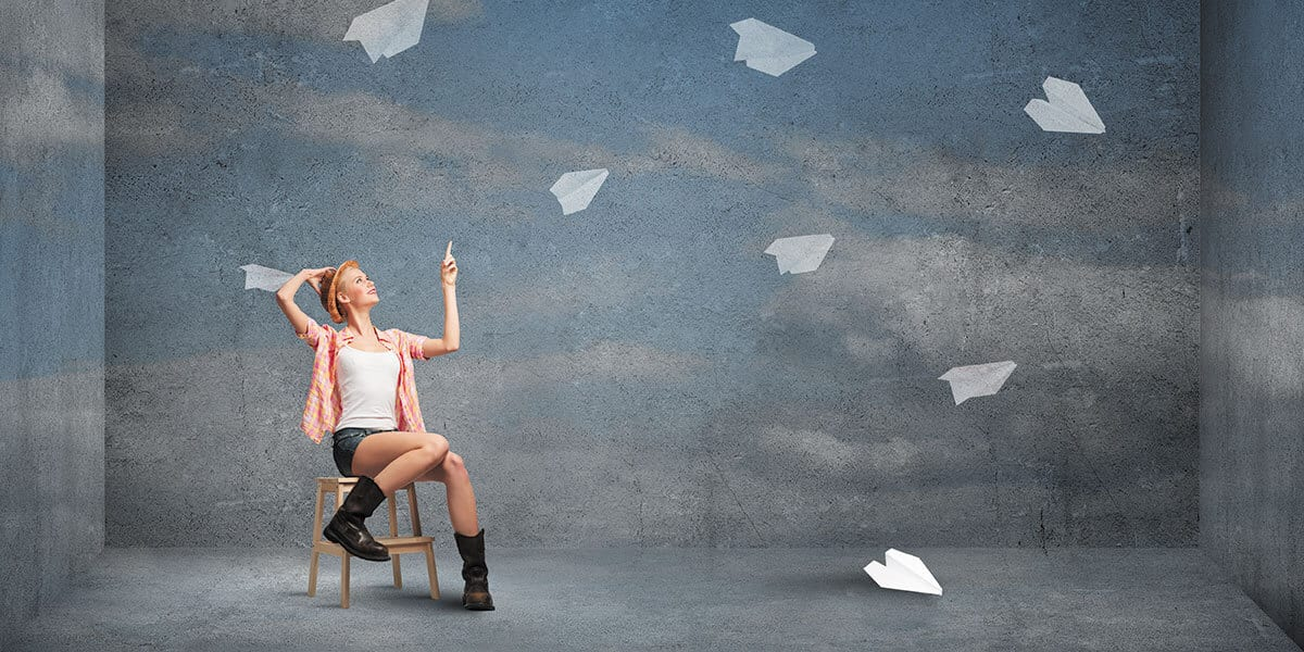 paper aeroplanes to show direct mail print marketing