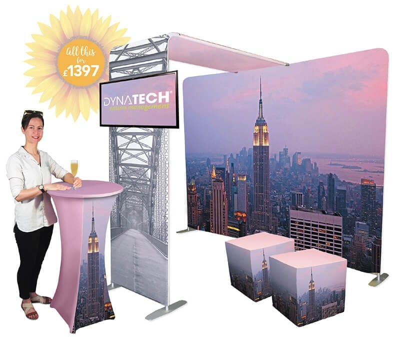 fabric event display stand at
