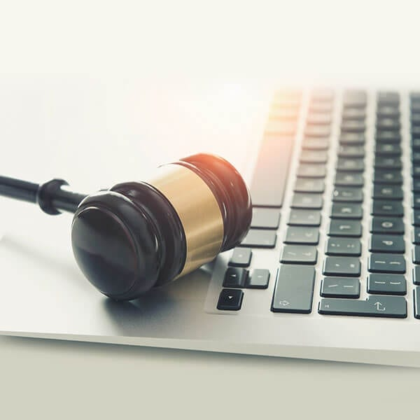 gdpr legal laptop and gavel laws regarding data and email marketing