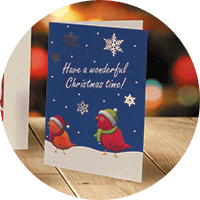 printed personalised corporate christmas cards