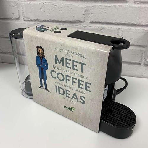 branded coffee machine
