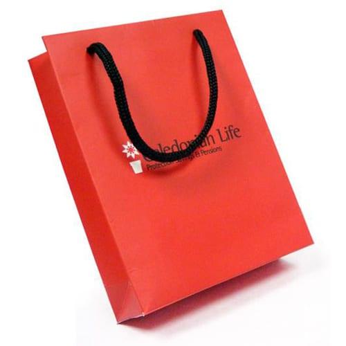 Red laminated bag