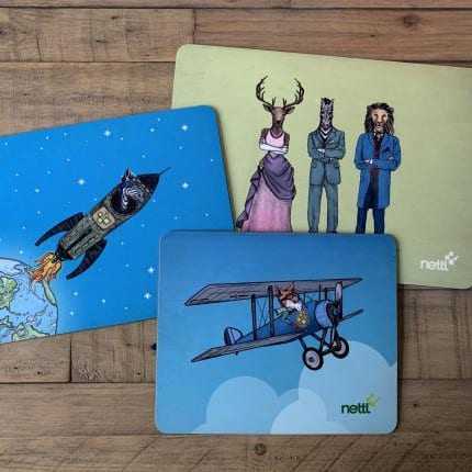 branded placemats
