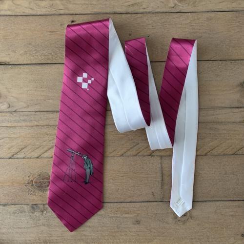branded pink tie
