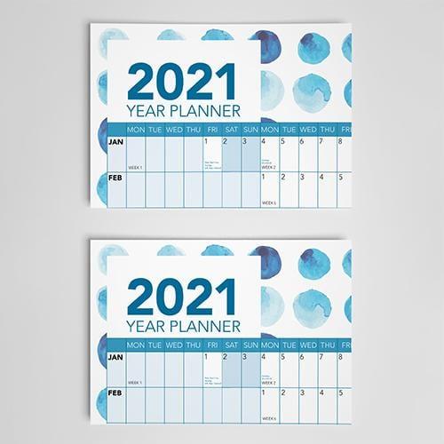 2021 blue year planner