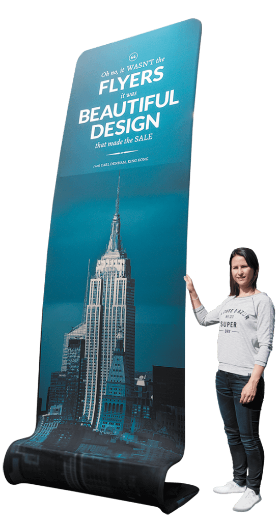 king python huge fabric banner stand
