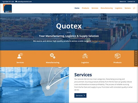 Quotex Ltd website by Nettl Of Stockport