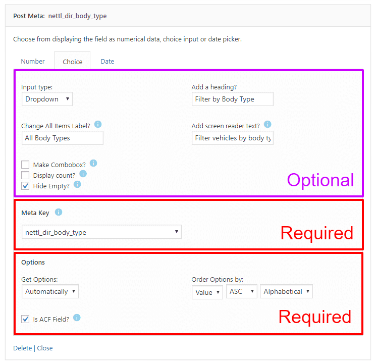 Nettl :Directory - Search Form Post Meta Example