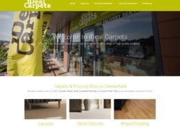 iDeal Carpets Website by Nettl of Chesterfield
