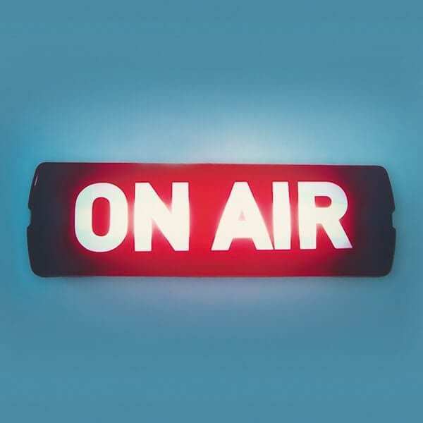 on air sign to represent business promotion