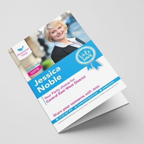 Election folded leaflet
