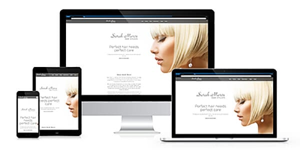 Sarah Marcs Hairdressers responsive website image